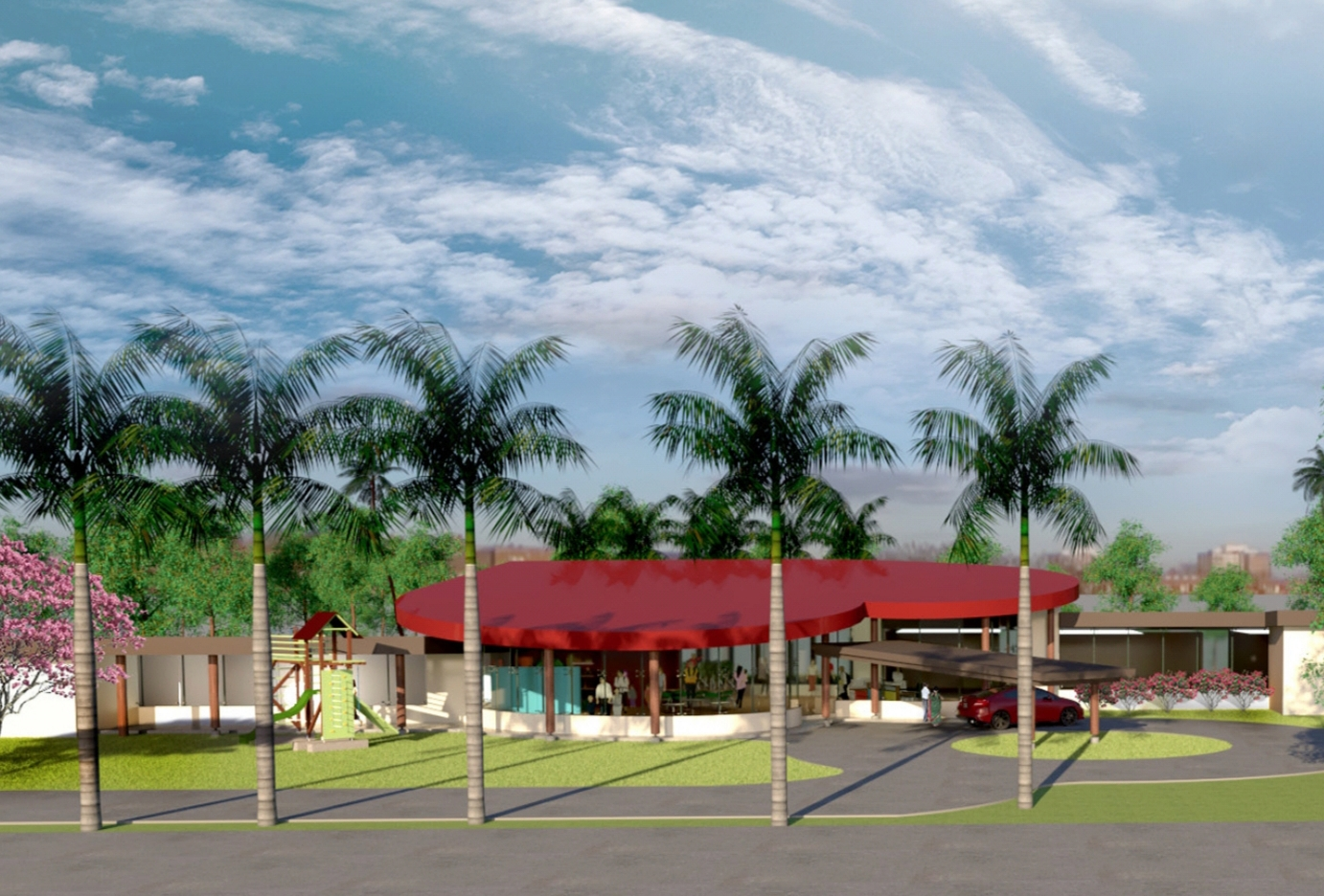 Artist's impression of the Children's Heart Hospital - Fiji